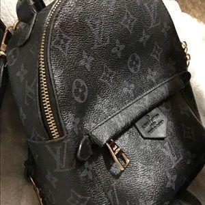 Black backpack.